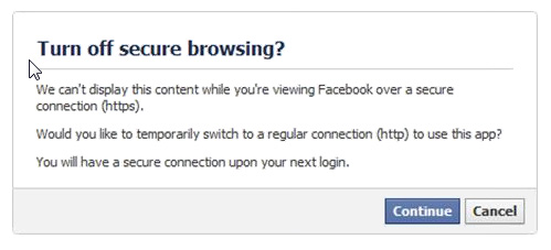 Facebook Secure Browsing