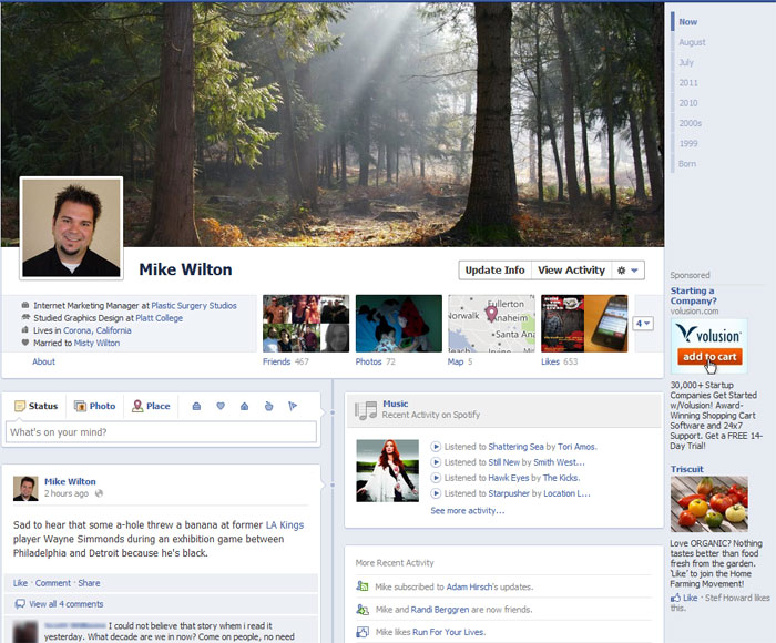 Mike Wilton's Facebook Timeline