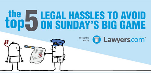 The Top 5 Legal Hassles To Avoid On Sunday's Big Game