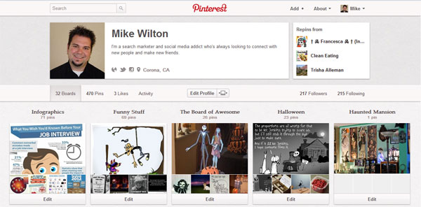 Mike Wilton's Pinterest Boards