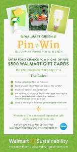 Walmart Green Pin to Win Contest