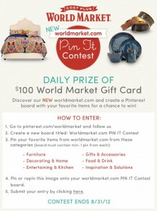 Cost Plus World Market Pinterest Contest Image