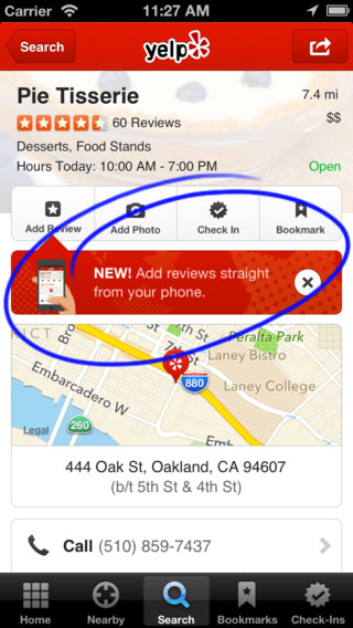 Yelp Mobile Reviews