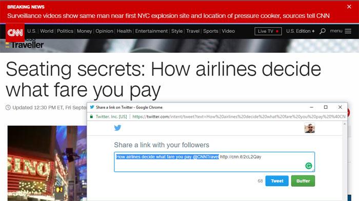 Screencap of CNN article